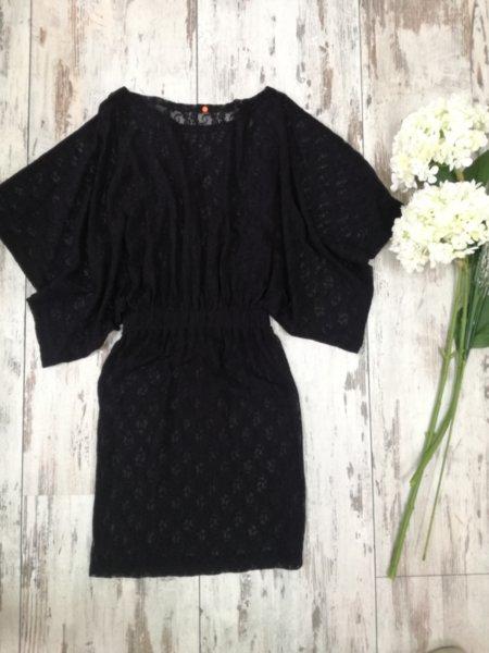 Дамска дантелена рокля в черно